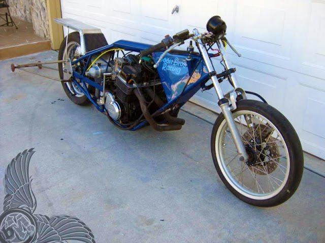 Drag Racing Helmets >> 1973 honda cb750 drag bike - bikerMetric