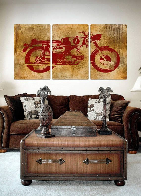 Beautiful Motorcycle Metal Wall Art