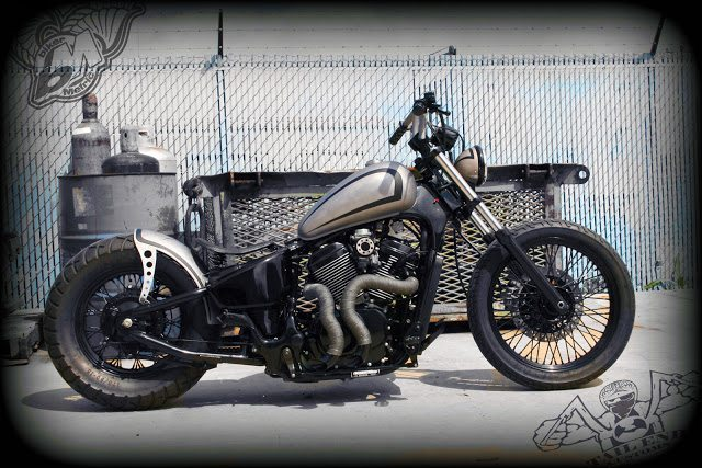 joey 39 s vlx600 bobber tail end customs bikermetric. Black Bedroom Furniture Sets. Home Design Ideas