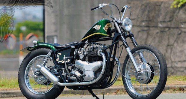Late 1960s Kawasaki W1 650cc Brat Bobber