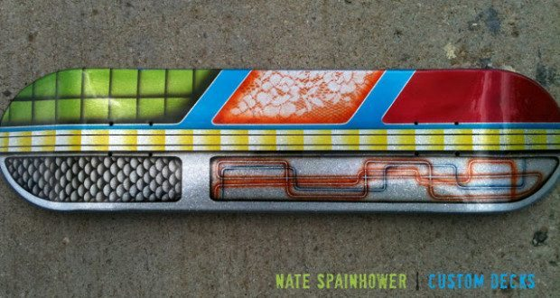 custom painted skate decks | nate spainhower