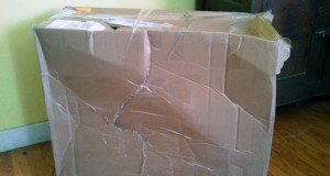 damaged ups package
