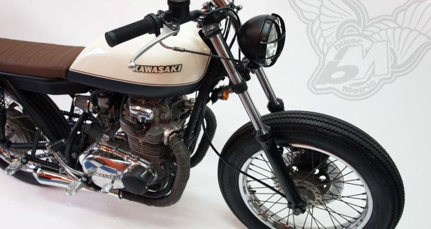 kawasaki kz400 cafe racer | free kustom cycles - bikerMetric