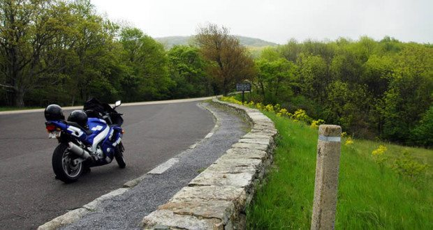 Motorcycle Side of the Road