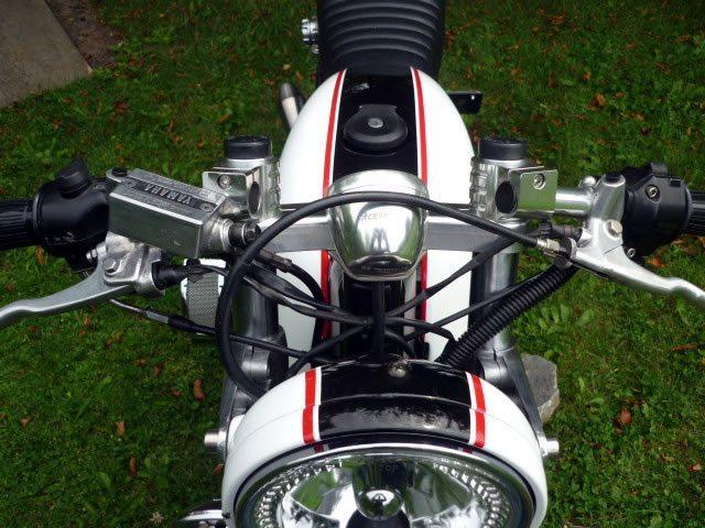 Yamaha Virago 750 Cafe Racer Headlight and Triple Tree