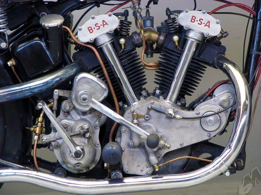 1934 J34 500cc ohv v-twin bsa motor