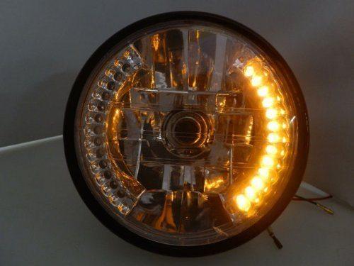 7-Motorcycle-Amber-26-LED-Halo-Headlight-Turn-Signal-with