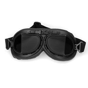 Astra-Depot-WWII-RAF-Vintage-Pilot-Style-Black-Frame-Motorcycle-Caf-Racer-Cruiser-Touring-Helmet-Goggles-0