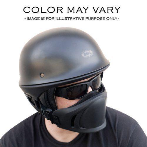 Bell Rogue Flat Matte Black Street Bobber Chopper Motorcycle Half Helmet LG DOT