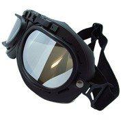 Ediors-WWII-RAF-Vintage-Pilot-Style-Flying-Motorcycle-Motorcross-Biker-Caf-Racer-Cruiser-Chopper-Touring-Helmet-Goggles-Sun-UV-Wind-Eye-Protect-Black-Frame-Reflective-Mirror-Lens-0-1