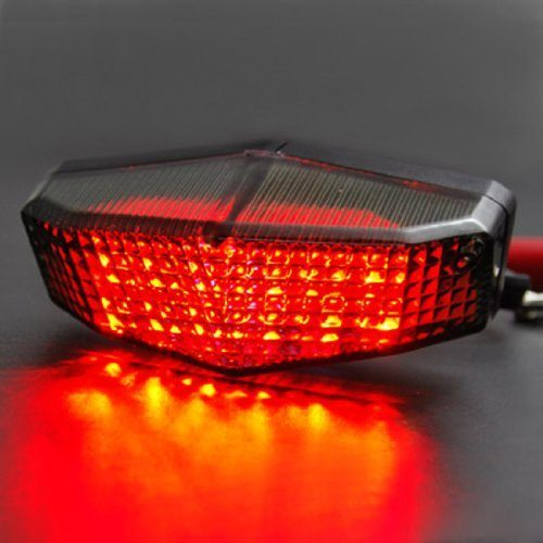Motorcycle Sport Racing Bike Smoke Red Led Sport Brake Tail Light
