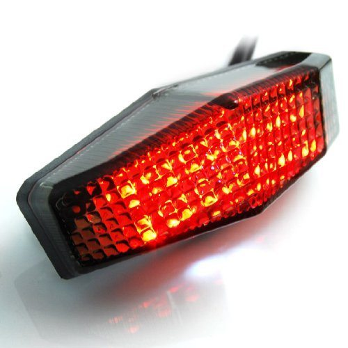 Motorcycle Sport Racing Bike Smoke Red Led Sport Brake