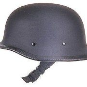 Novelty-German-Flat-Black-Chopper-Biker-Motorcycle-Helmet-Large-0