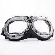 Retro-Chrome-Frame-Padded-UV-Helmet-Strap-Goggle-Sunglasses-Bike-Chopper-Caf-Racer-0-0
