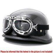 Retro-Chrome-Frame-Padded-UV-Helmet-Strap-Goggle-Sunglasses-Bike-Chopper-Caf-Racer-0-4