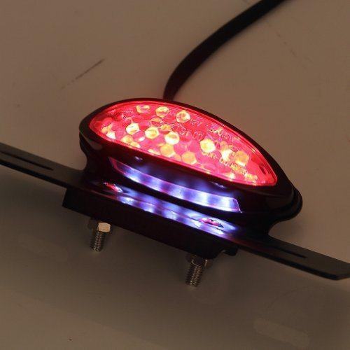 Custom Tail Light Lenses : Rupse cateye lens v led motorcycle brake tail light lamp