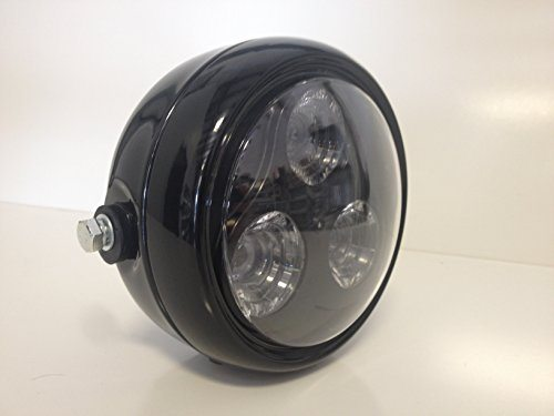 Cafe Racer Motorcycle Headlight : Speedmotoco black led headlight motorcycle streetfighter