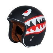 TORC-T50-Route-66-34-Helmet-with-Flying-Tiger-Graphic-Flat-Black-Medium-0