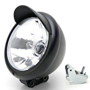 Universal-Motorcycle-Headlight-Lamp-Light-Black-Custom-Cruiser-Touring-Chopper-for-any-Harley-Honda-Yamaha-Suzuki-Kawasaki-Custom-Bike-Cruiser-Choppers-0
