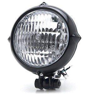Vintage-Style-Black-Motorcycle-Headlight-Retro-Cafe-Racer-Bobber-Chopper-Cruiser-0