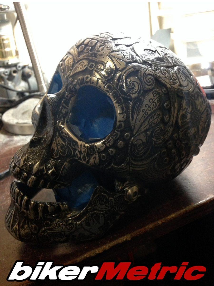 engraved skull