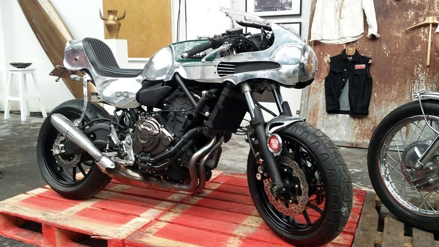 Retro Inspired Yamaha Mt 07 Bikermetric