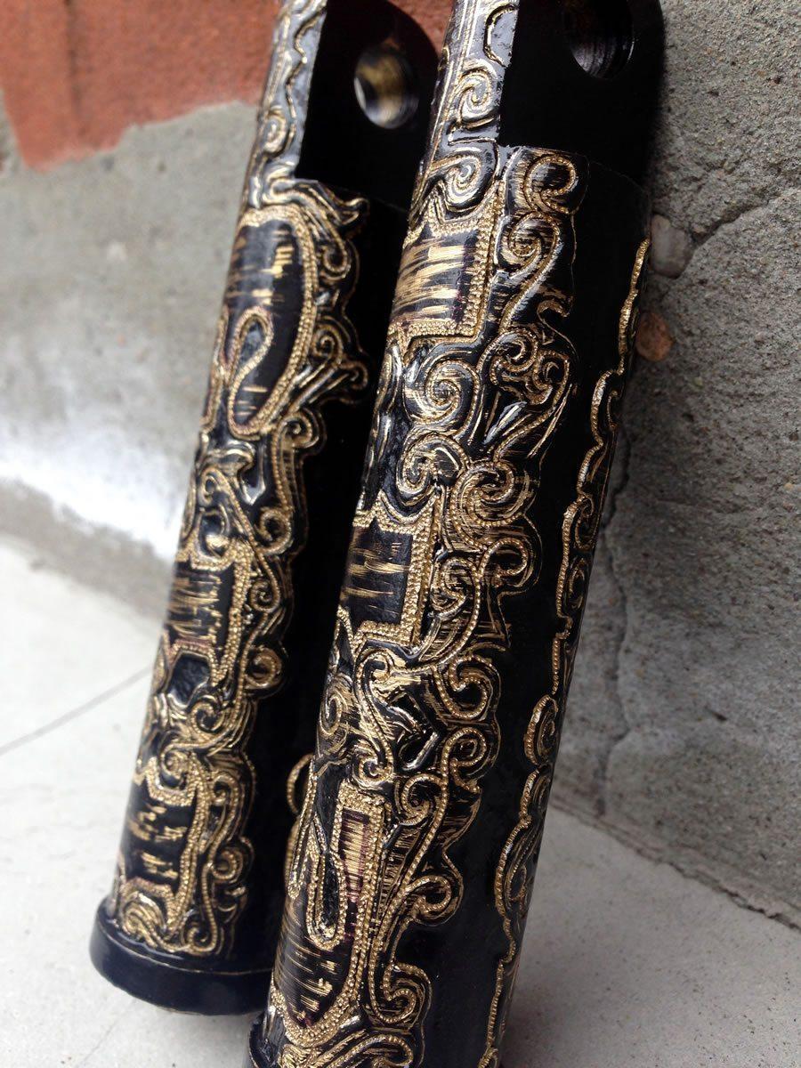 engraved motorcycle foot pegs