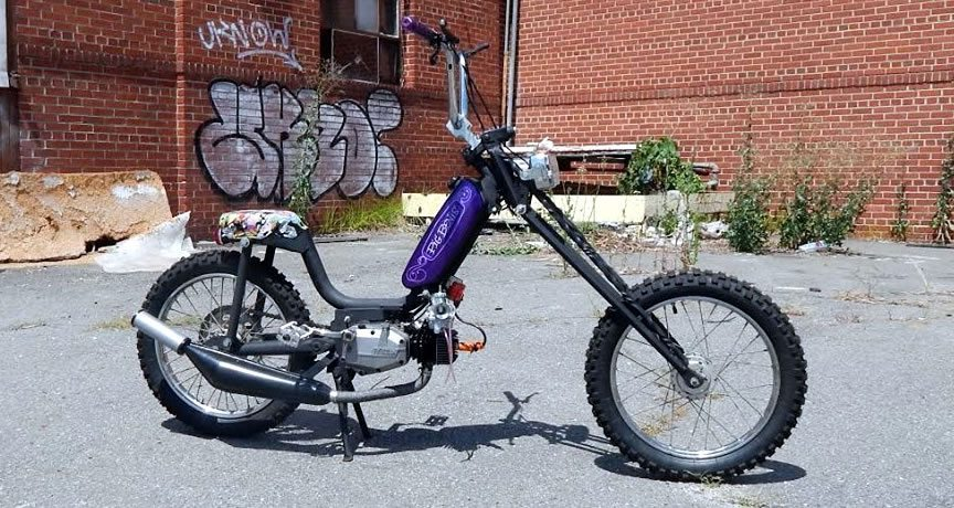 two-stroke race moped