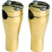 Paughco-Brass-Handlebar-Riser-4in-Glide-Style-with-Thru-Hole-350ABR-0