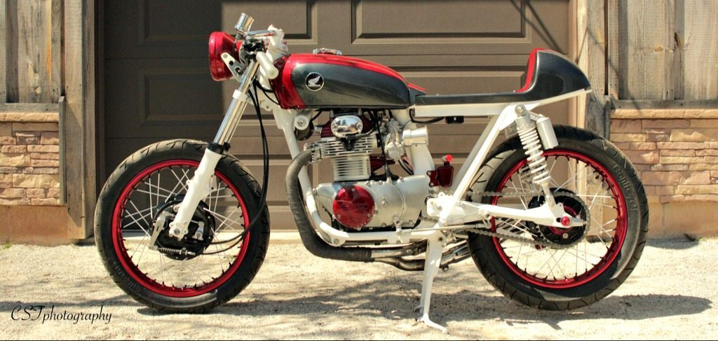 honda cb350 cafe racer profile