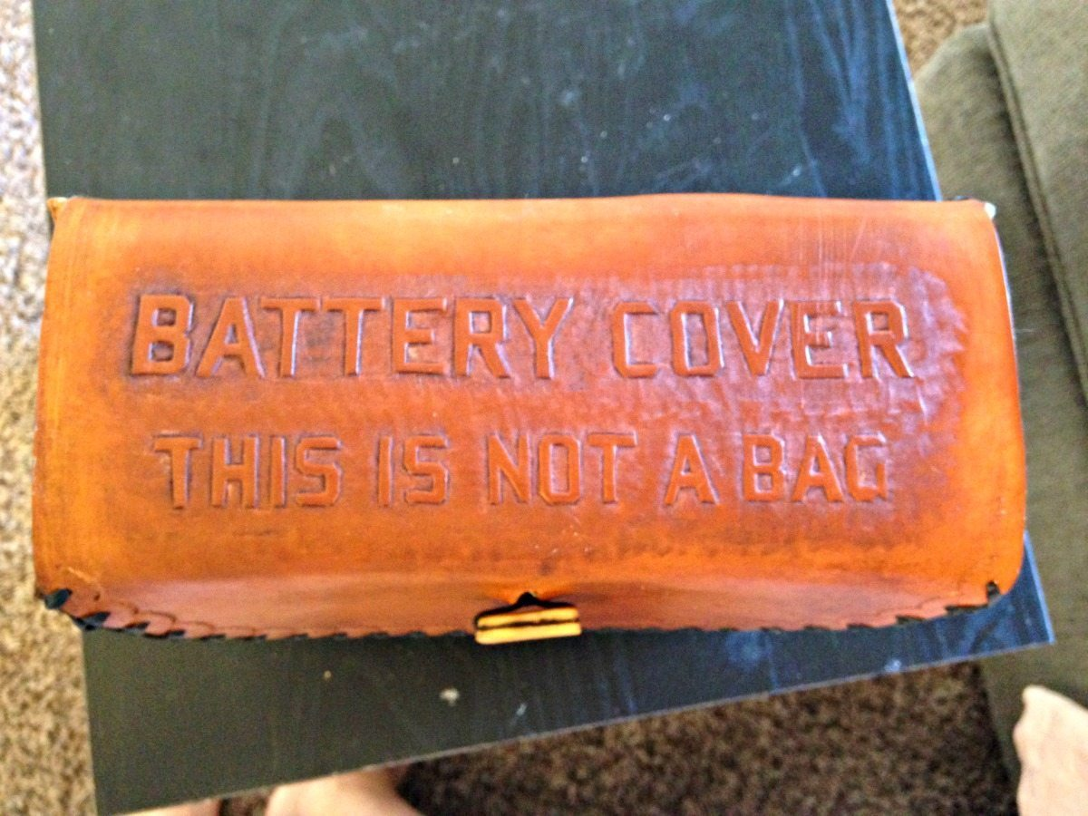 leather battery cover - this is not a bag