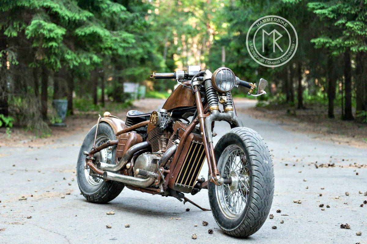 honda vt600 bobber hammerbike customs bikermetric. Black Bedroom Furniture Sets. Home Design Ideas