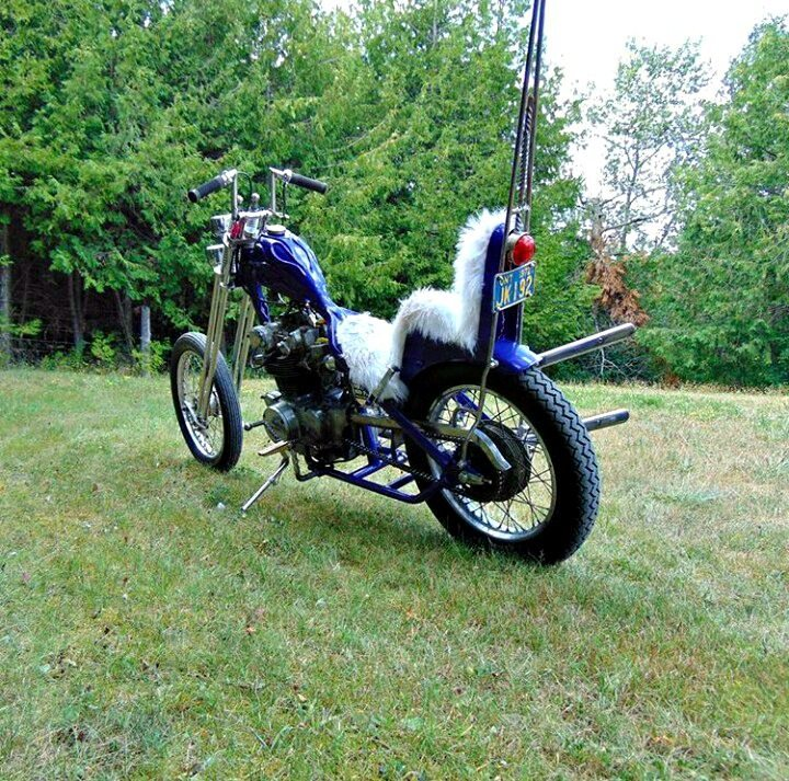 honda cb450 chopper - back