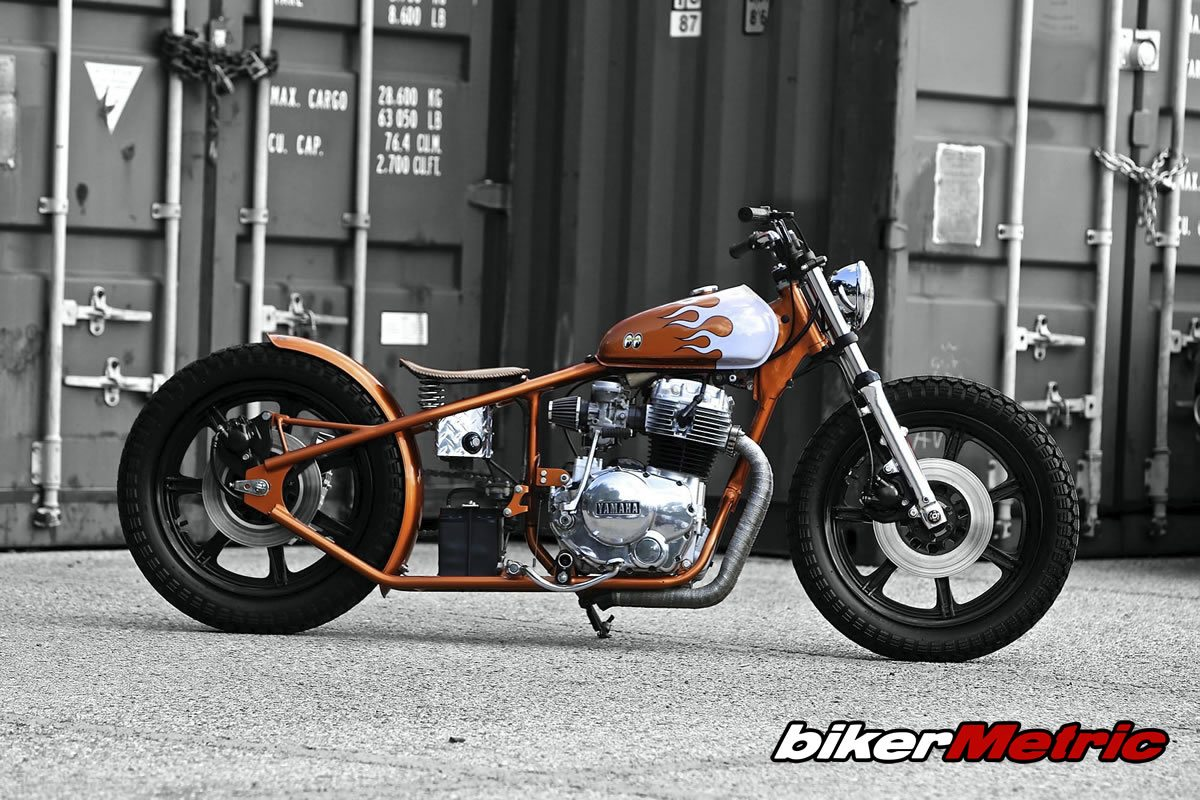 yamaha xs400 bobber side profile