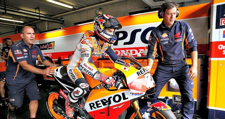 MotoGP bike testing