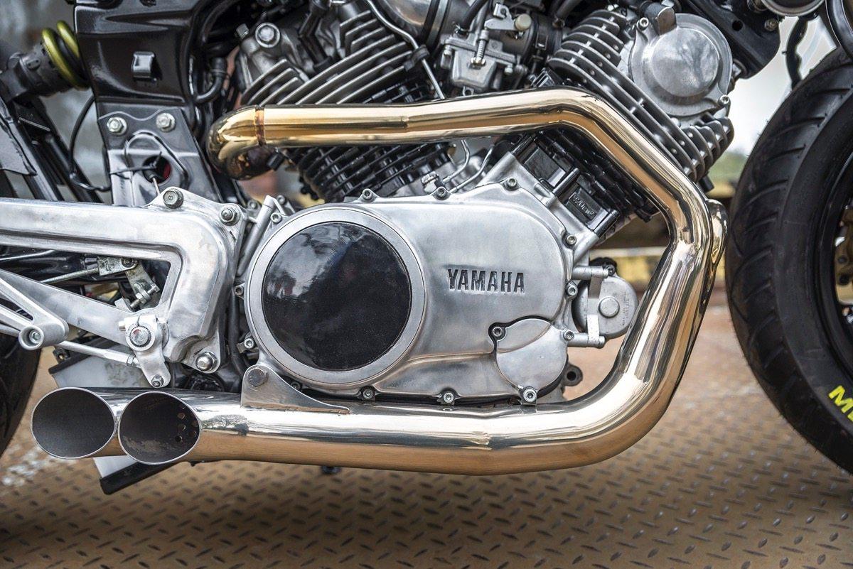 Yamaha Virago XV920 Cafe Racer - Exhausts