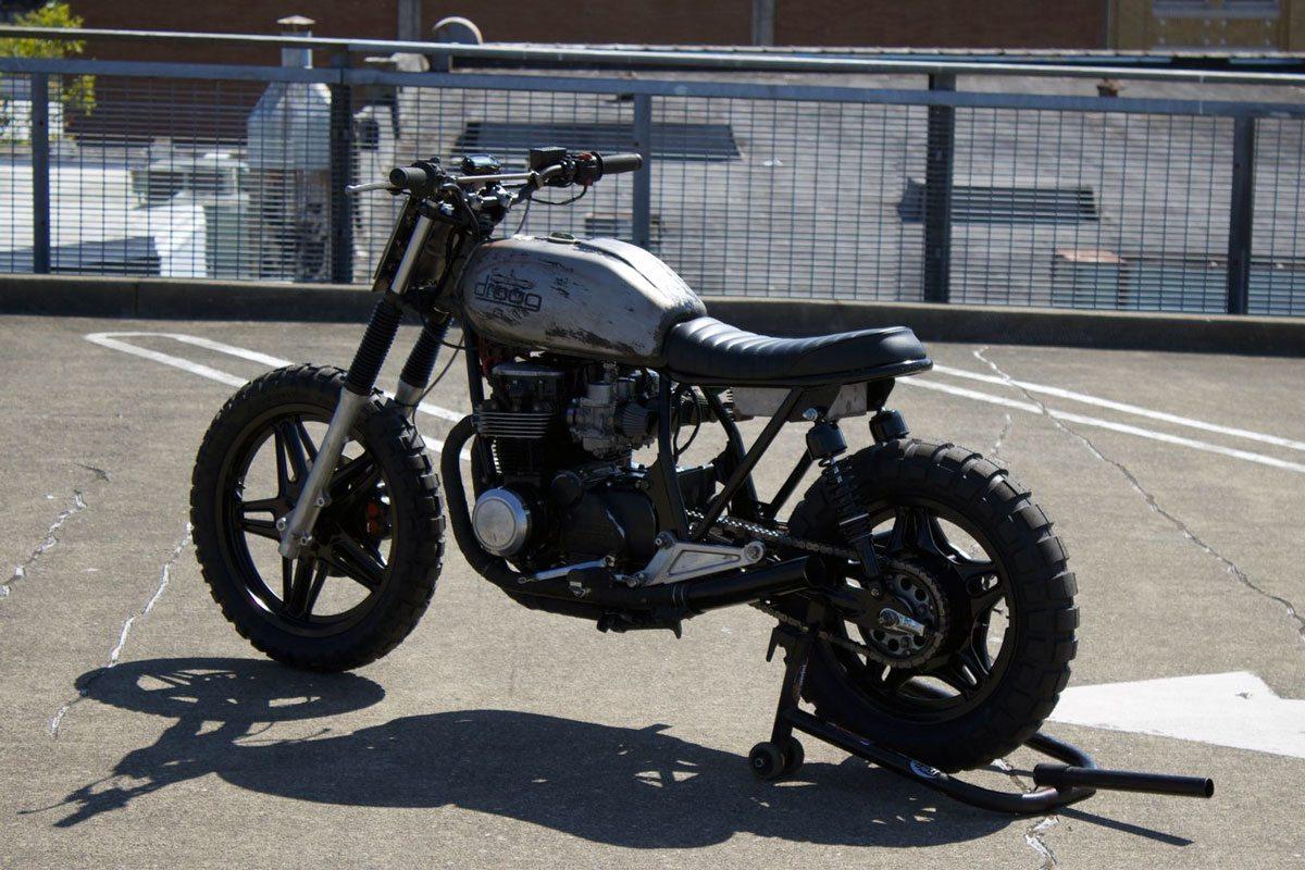 custom Honda CB650 by droog moto - back