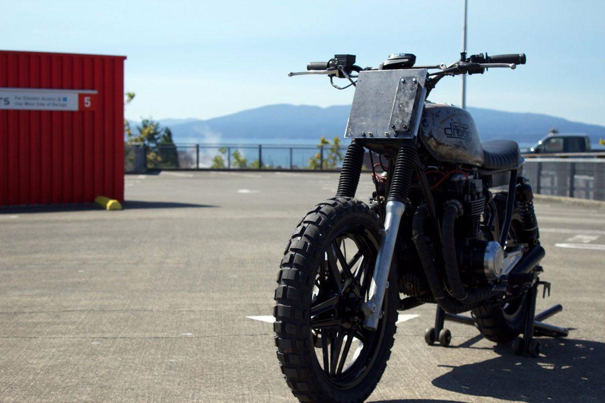 Custom Honda CB650 by droog moto - front