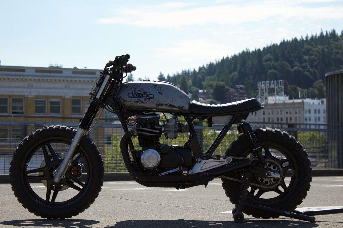 Custom Honda CB650 by droog moto - side