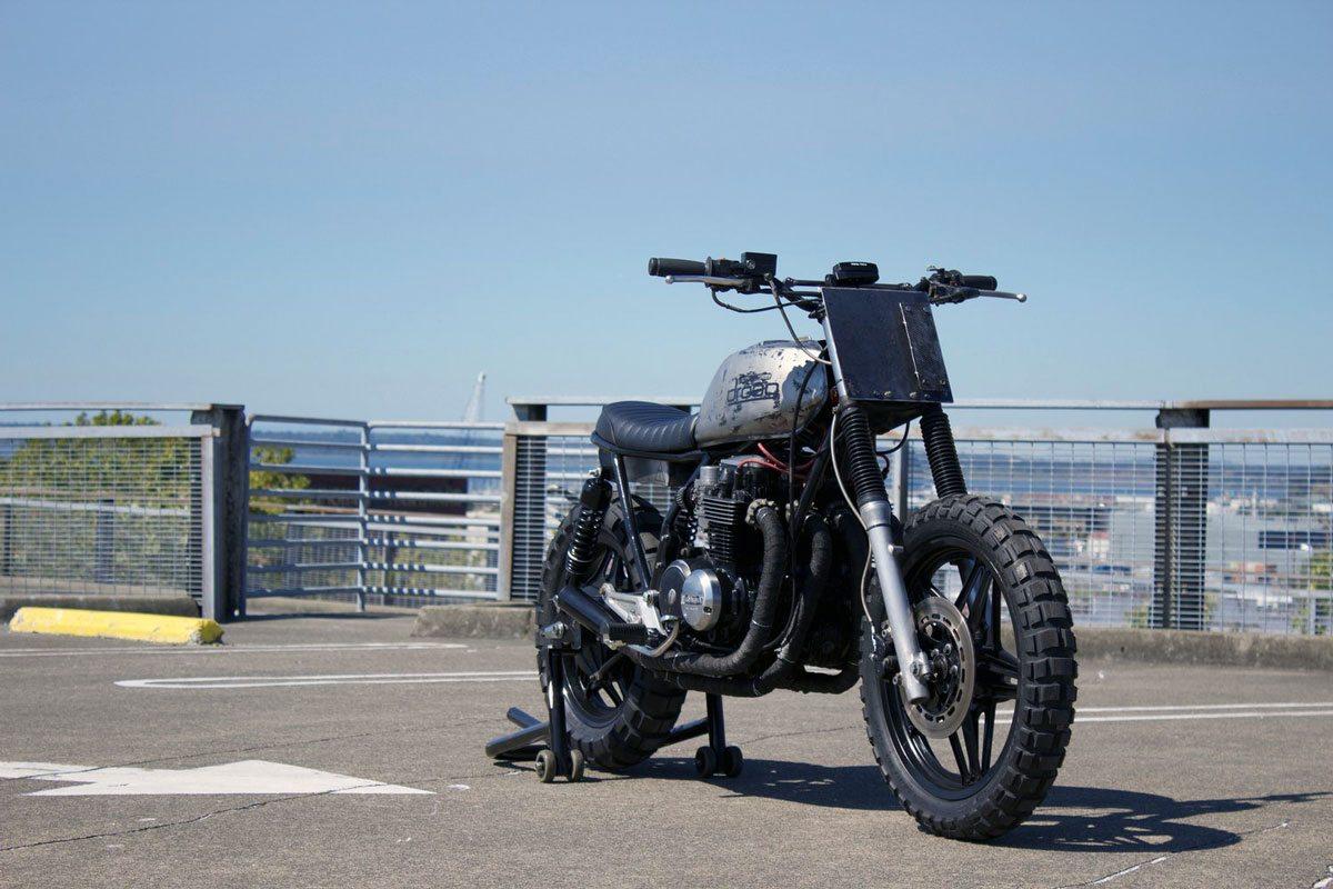 custom Honda CB650 by droog moto