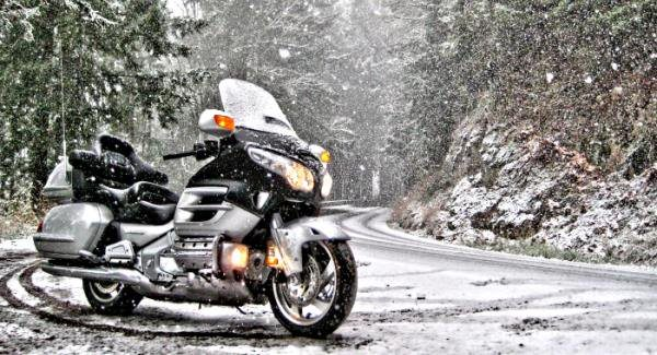 Winter Motorcycle Ride