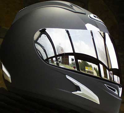 Chromed Helmet Visor