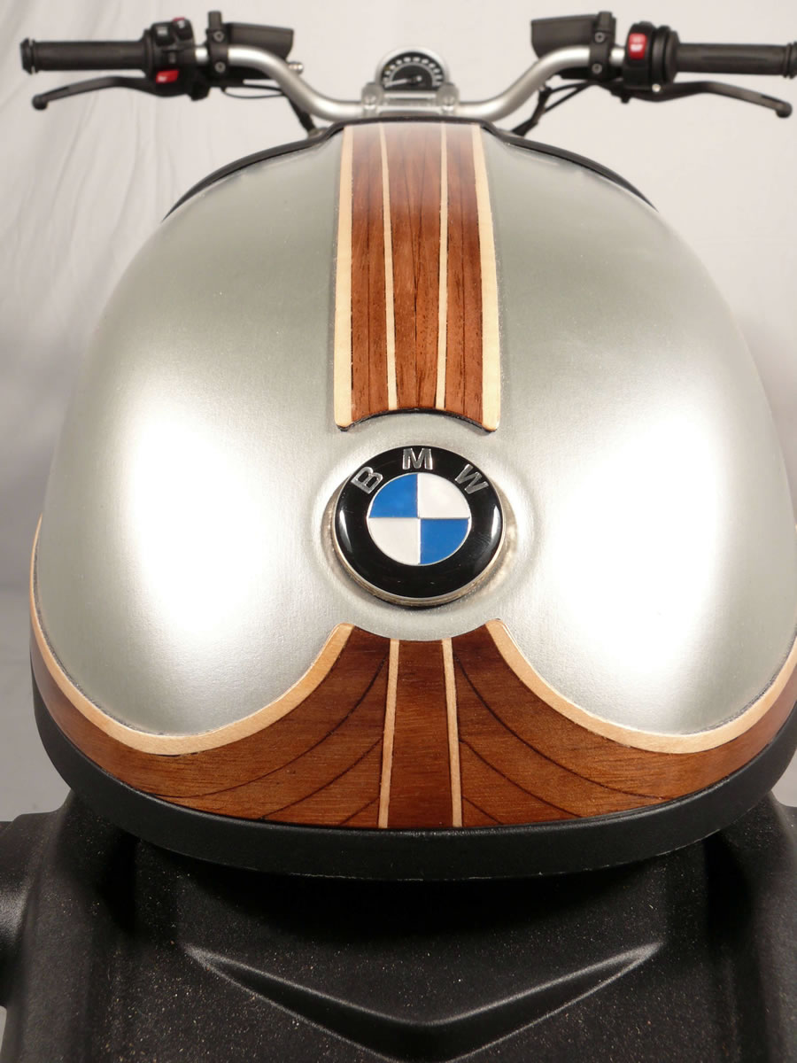 bmw r nine t wood veneer rear fender