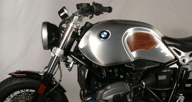 custom motorcycles with real wood veneer