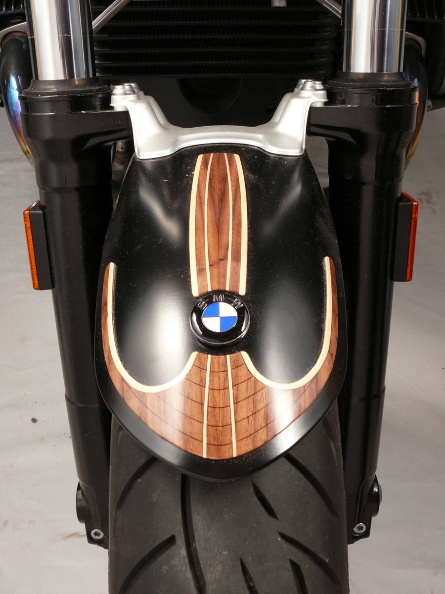wood motorcycle fender